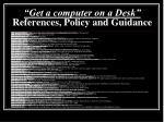 get a computer on a desk references policy and guidance