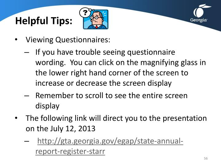 Helpful Tips: