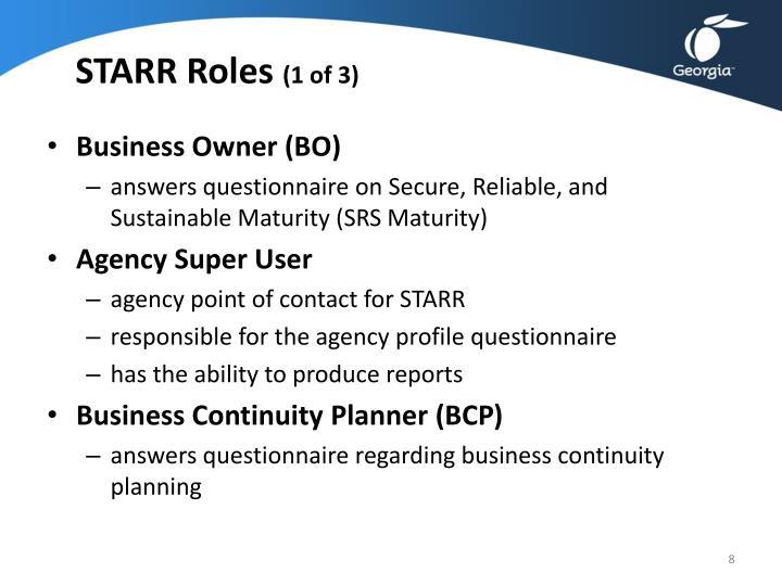 STARR Roles