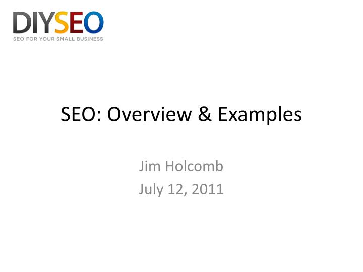 seo overview examples n.