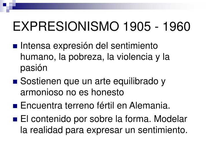 Expresionismo 1905 1960