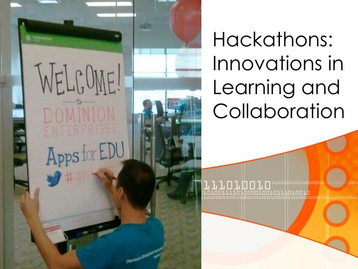 hackathons innovations in learning and collaboration n.