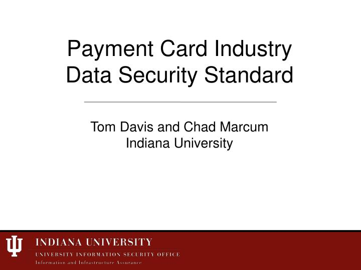 payment card industry data security standard n.