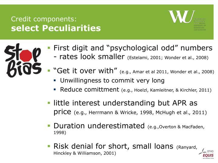 Credit components: