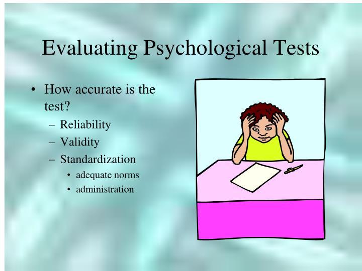 Evaluating Psychological Tests