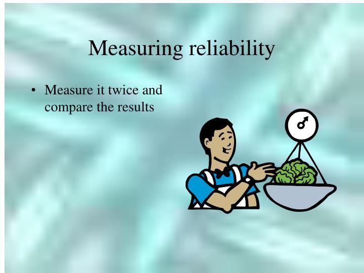 Measuring reliability