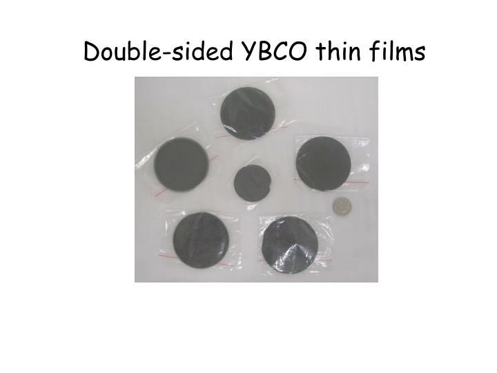 Double-sided YBCO thin films