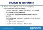 structure de consultation
