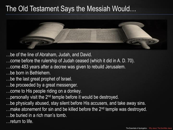 The Old Testament Says the Messiah Would…