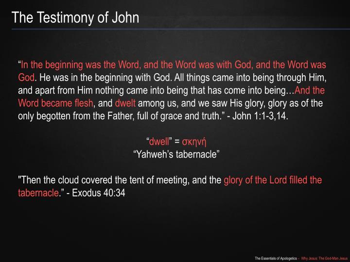The Testimony of John