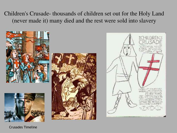 Children's Crusade- thousands of children set out for the Holy Land
