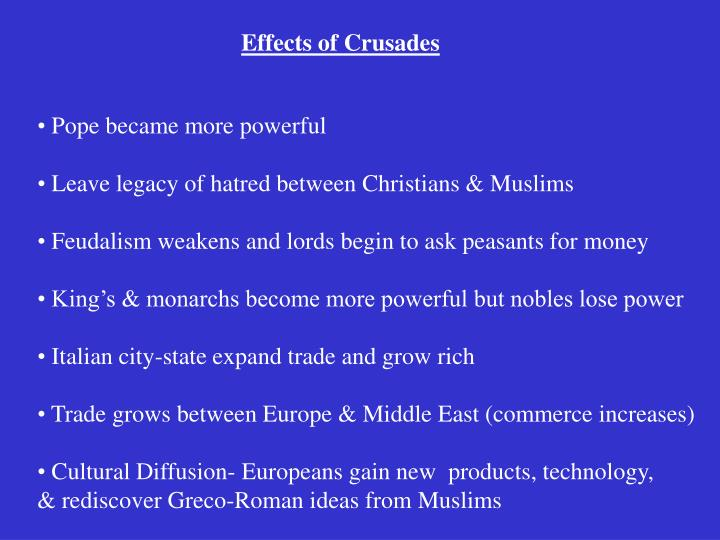 Effects of Crusades