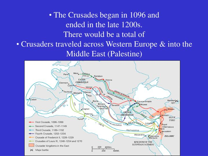 The Crusades began in 1096 and