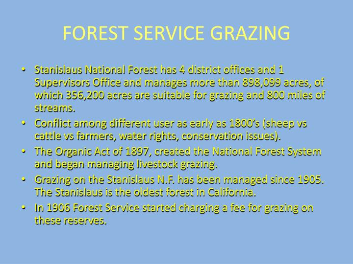 FOREST SERVICE GRAZING
