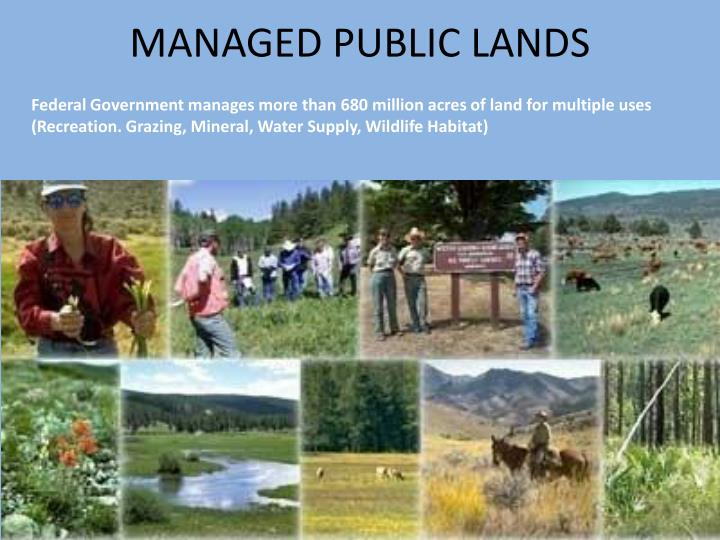 MANAGED PUBLIC LANDS
