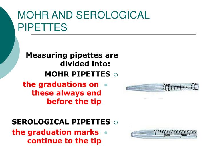 MOHR AND SEROLOGICAL PIPETTES
