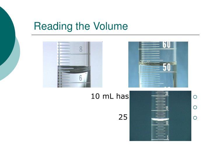 Reading the Volume