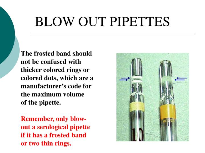 BLOW OUT PIPETTES