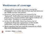 weaknesses of coverage