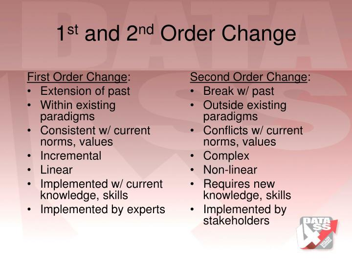First Order Change