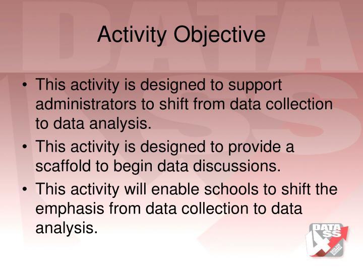 Activity Objective
