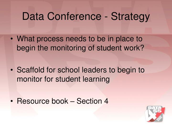 Data Conference - Strategy