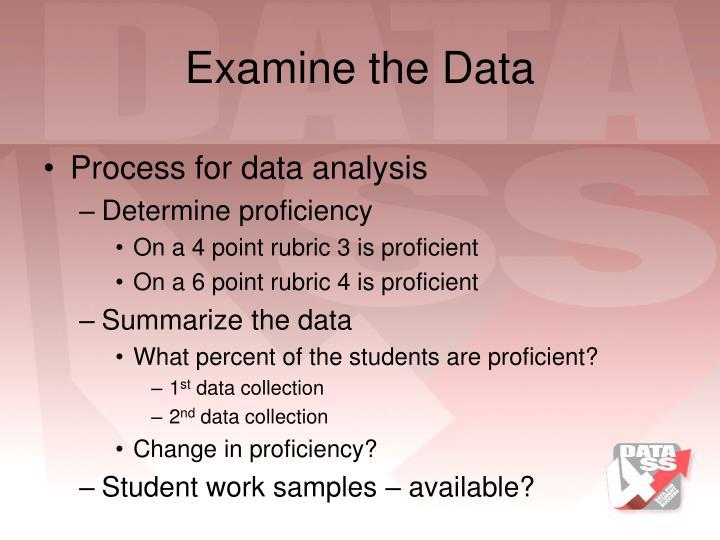 Examine the Data