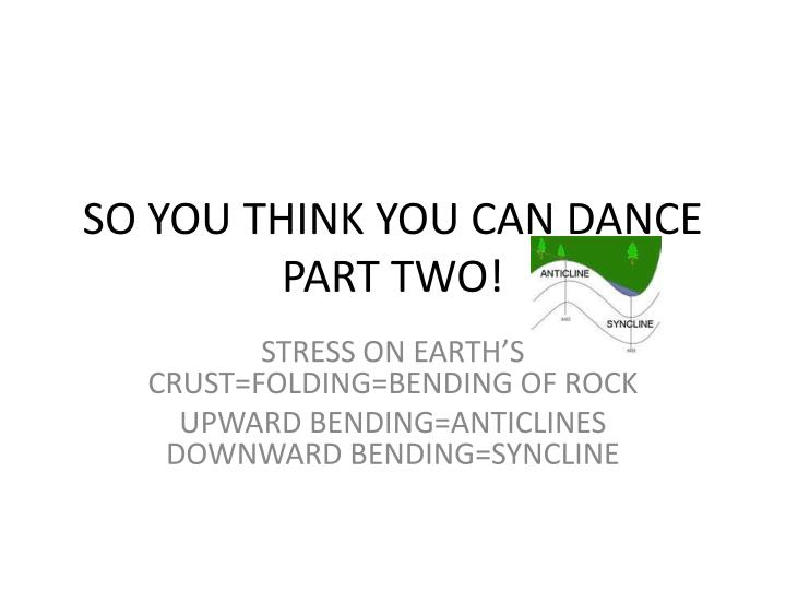 so you think you can dance part two n.