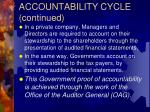 accountability cycle continued