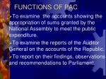 functions of pac