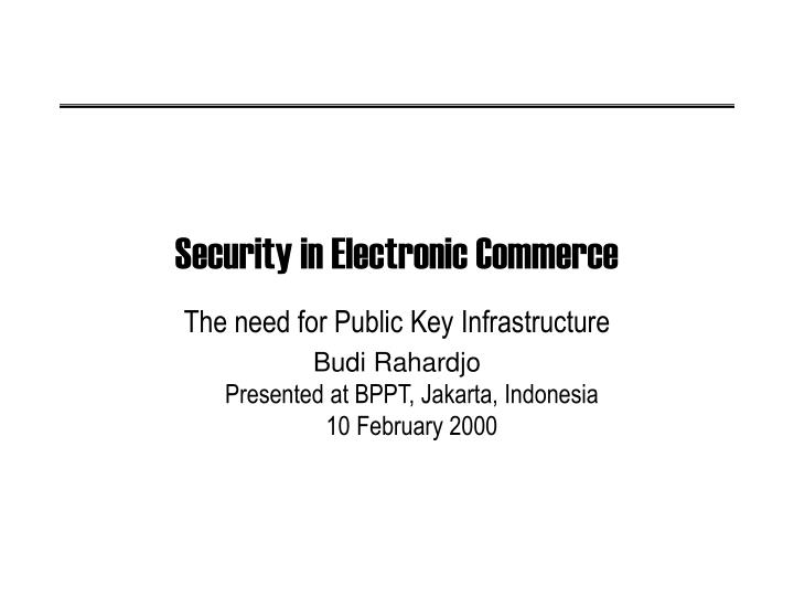 security in electronic commerce n.