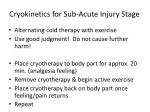 cryokinetics for sub acute injury stage