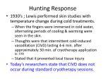 hunting response