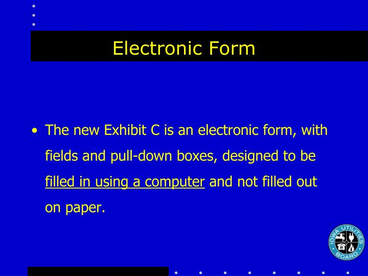 Electronic form