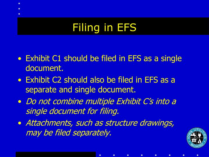 Filing in EFS