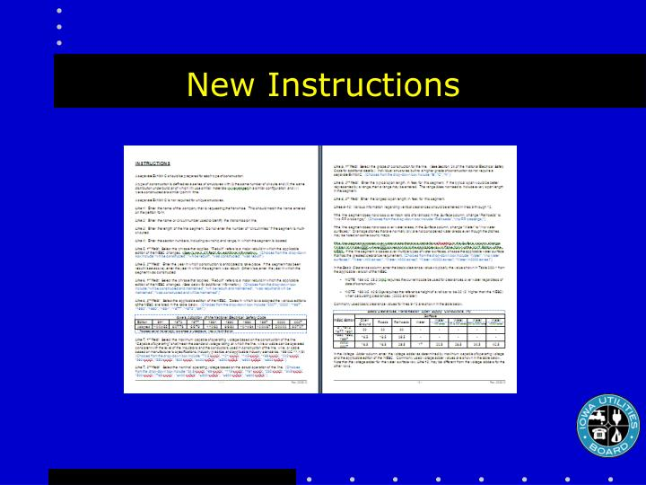 New Instructions