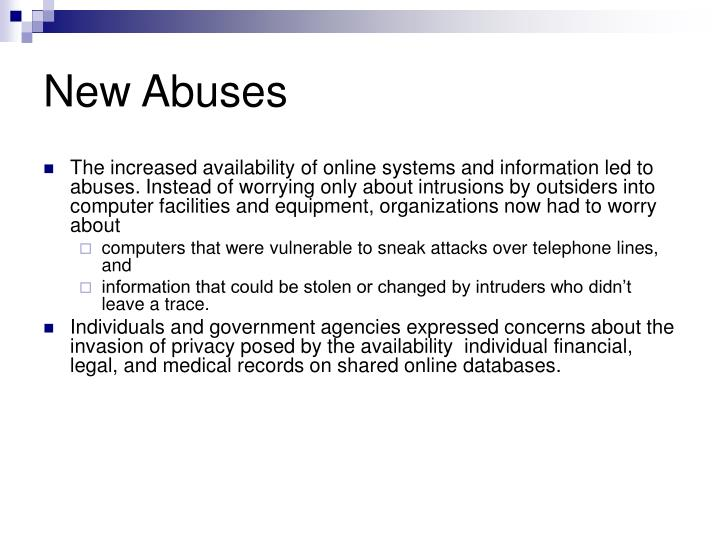 New Abuses
