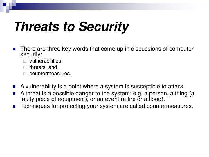 Threats to Security