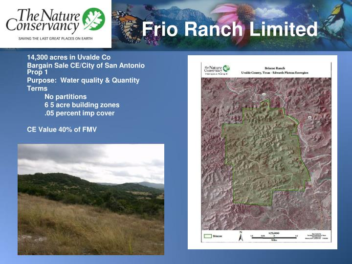 Frio Ranch Limited