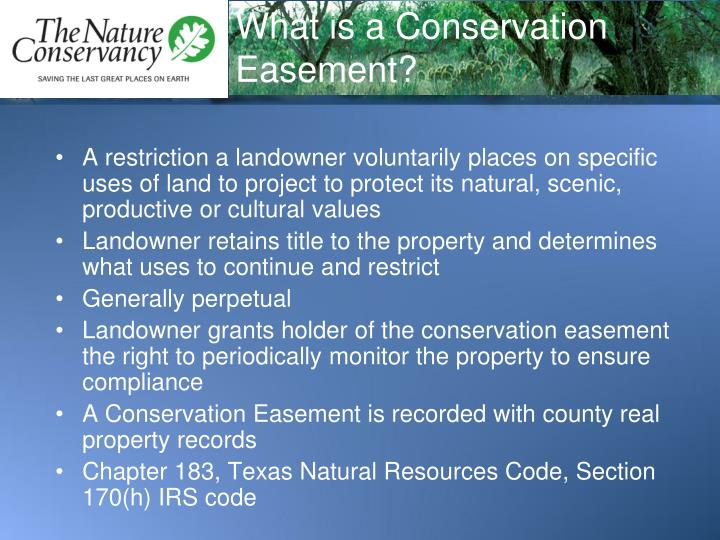What is a conservation easement