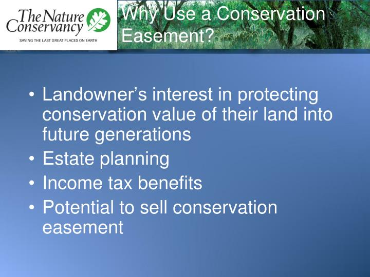 Why use a conservation easement