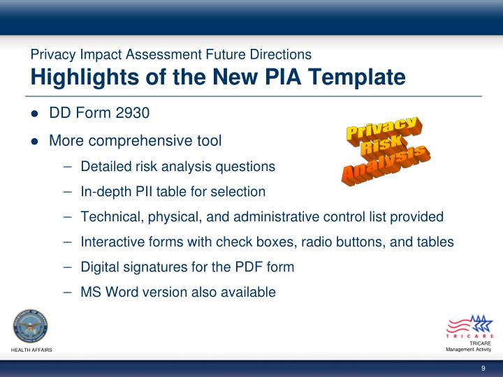 PPT - Privacy Impact Assessment Future Directions PowerPoint ...