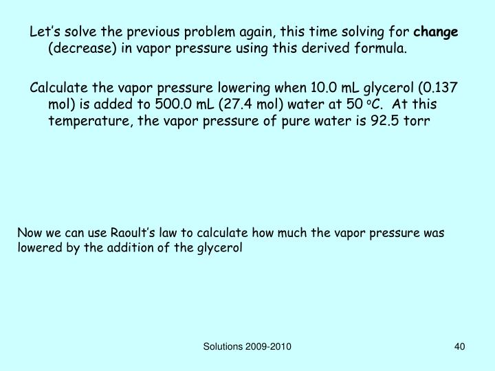 Let's solve the previous problem again, this time solving for