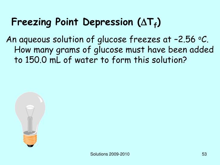 Freezing Point Depression (