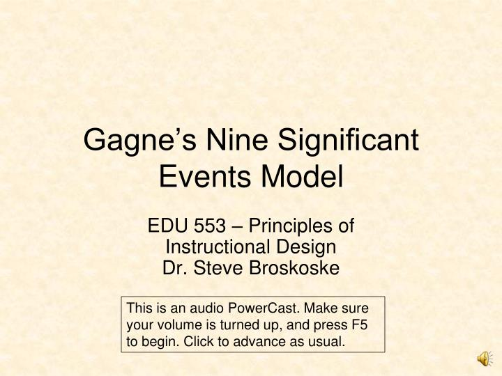 gagne s nine significant events model n.