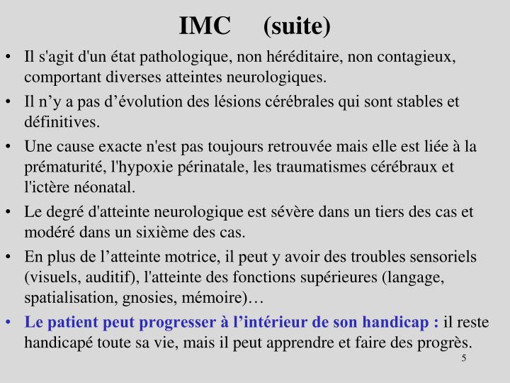 IMC     (suite)