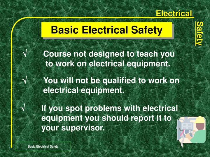 Basic electrical safety1