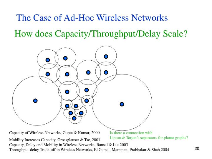 The Case of Ad-Hoc Wireless Networks