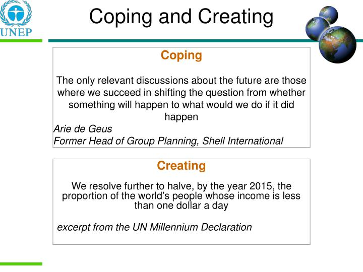 Coping and Creating