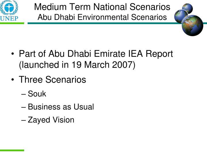 Medium Term National Scenarios